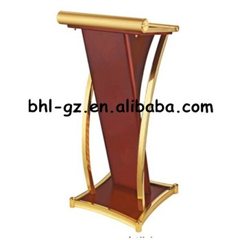 Guangzhou Hotel Furniture Suppliers Wholesalers Wooden Podium Wood Lectern Speech Podium T339