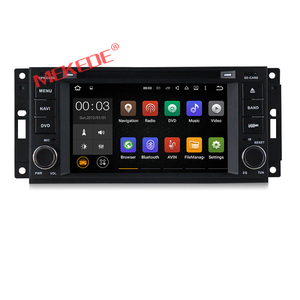 Android 7.1 6.2inch car media player for Chrysler Jeep Dodge with 3G wifi bluetooth function radio cassette recorder