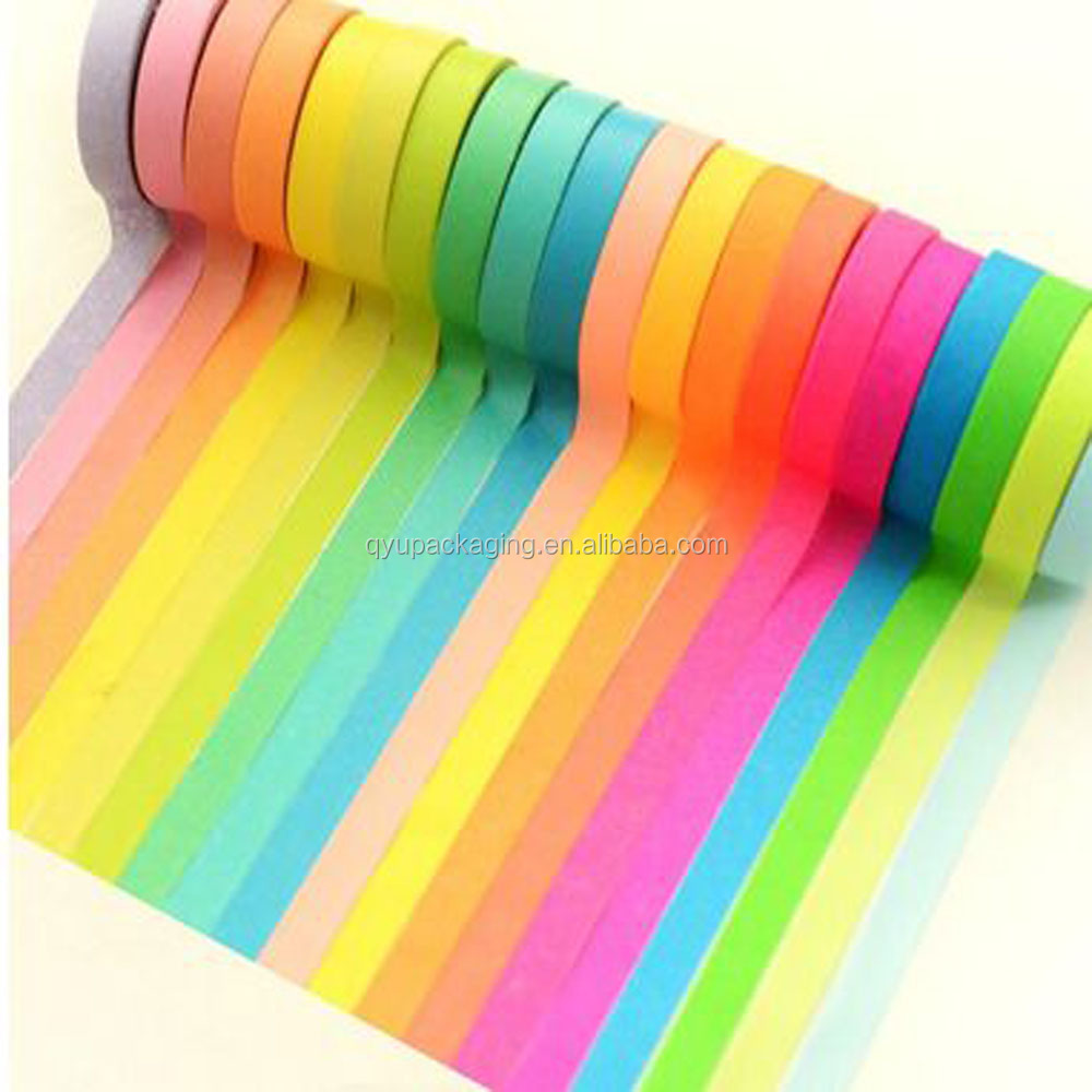 7.5mm/15mm x 5m rainbow style washi masking tape, more than 100 designs