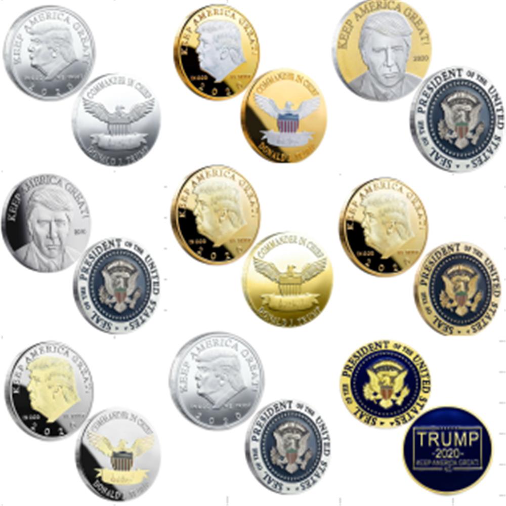 2020 mantener América grande otra vez de los Estados Unidos de América el presidente Donald Trump desafío moneda Trump campaña 2020, el Presidente