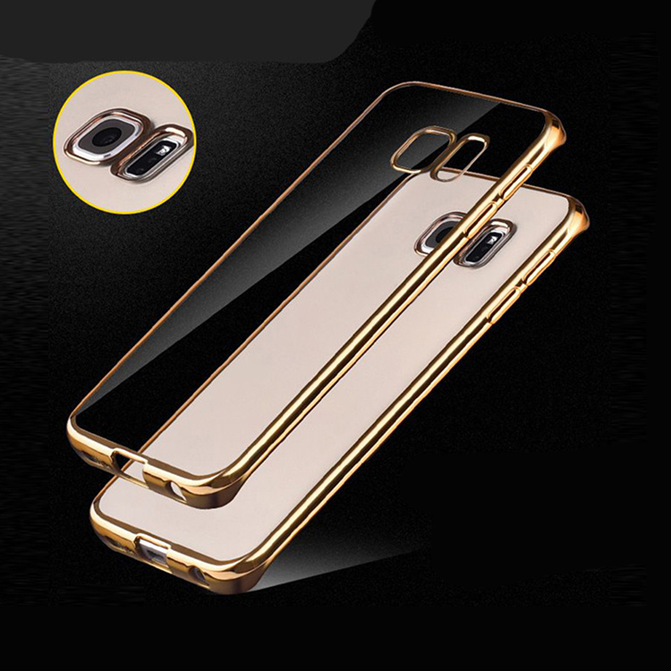 Electroplating Protective Case And Crystal Clear Back Cover For Samsung Galaxy S8 Case
