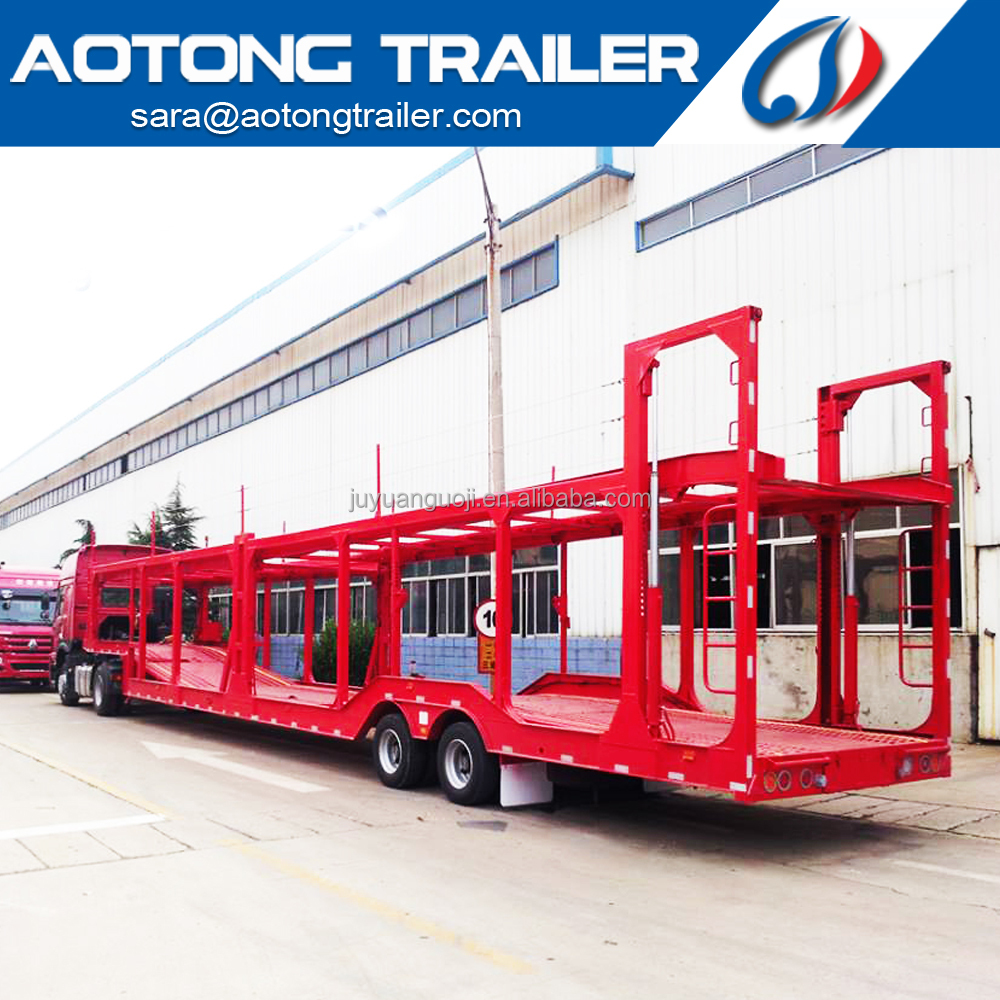 Double Floor Auto Car hauler trailer , car transporter trailer , car carrier trailer for 6-20 units cars or SUV transportation