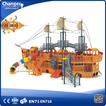 Wooden pirate ship outdoor playgrounds for children game - Wooden pirate ship outdoor ...