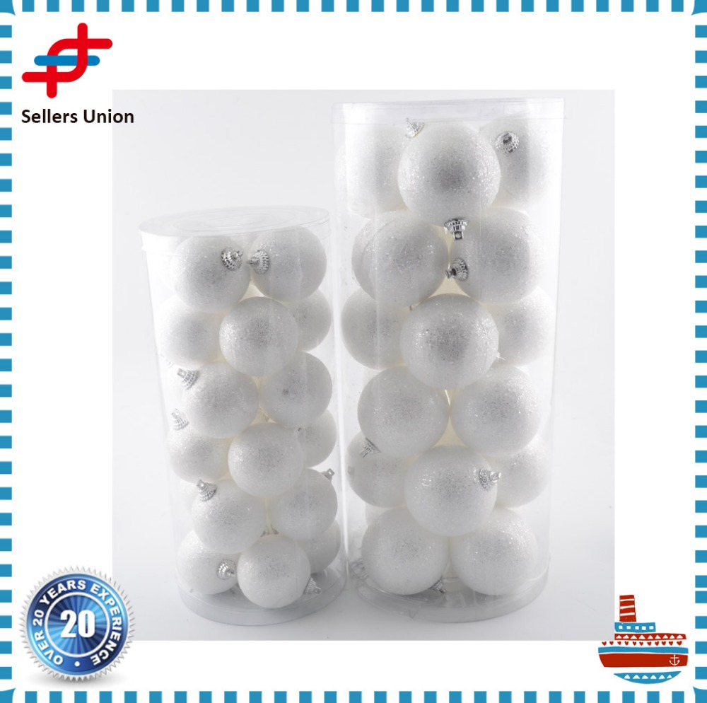White Christmas Ornament Balls xmas Tree pendants wedding decoration bauble