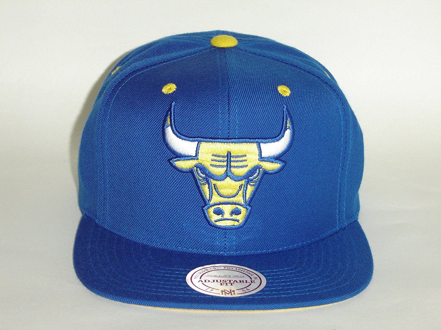 0b0a84615f5 Get Quotations · Mitchell and Ness NBA Chicago Bulls Blue Special Retro Snapback  Cap