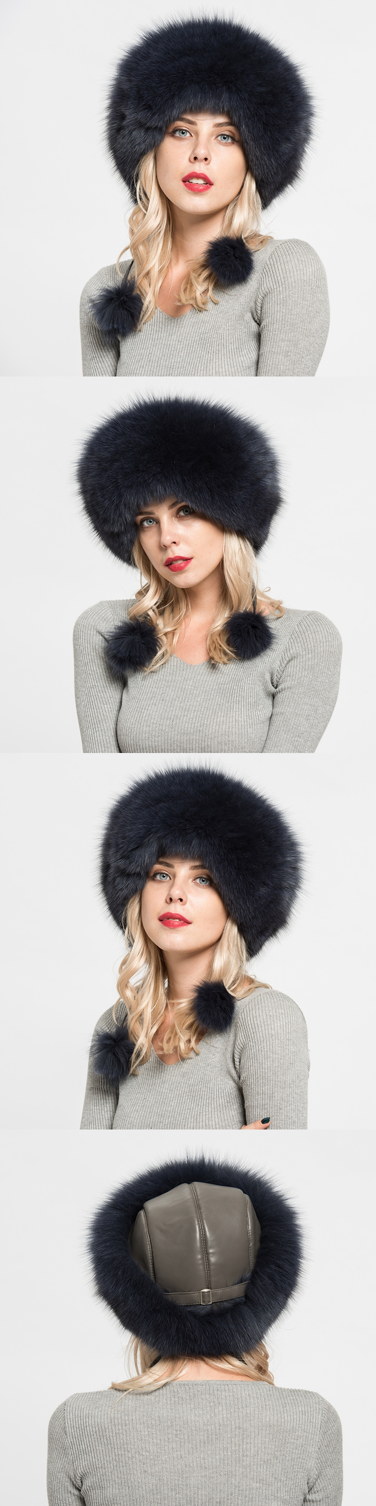 Reliable Quality Support OEM Female Fashion Caps Real Fox Fur Hats