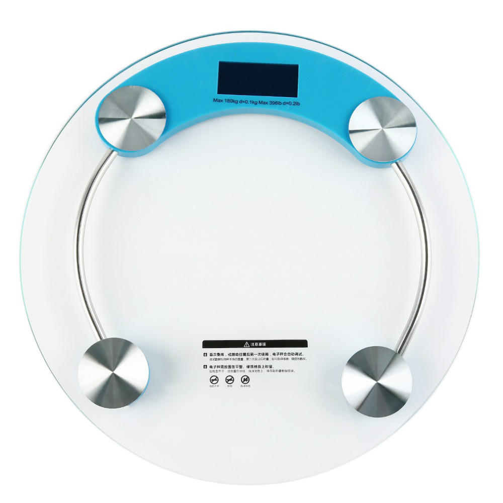 Household Use Digital Weight Machine 180 KG Bathroom Scale with toughened glass