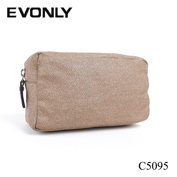 C5095 Promotional Cheap Jute Cosmetic Bags and Cases Travel Accessories for Makeup