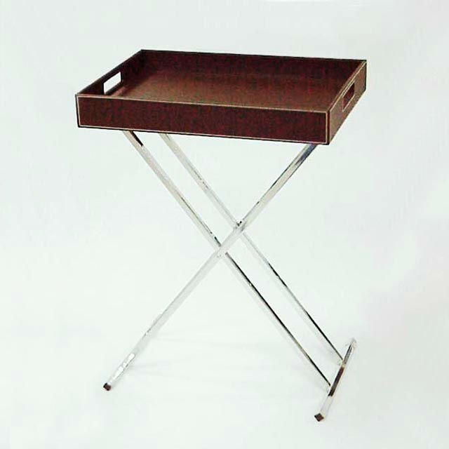 Portable Brown Pu Leather Folding Tray Table   Buy Folding Tray Table, Portable Folding Tray Table,Pu Leather Folding Tray Table Product On  Alibaba.com