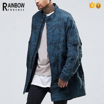 ce65b140e Custom Camo Printing Nylon Mens Parka Jacket With Zipper - Buy ...
