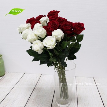 Gnw Fl Rs70 8cm Real Touch High Similation Artificial Rose Arrangements Red Whole