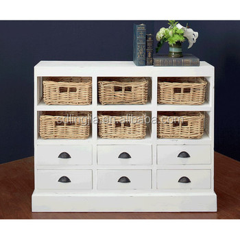 Jeffan Nantucket 6 Drawer And 6 Basket Storage Cabinet For Home ...