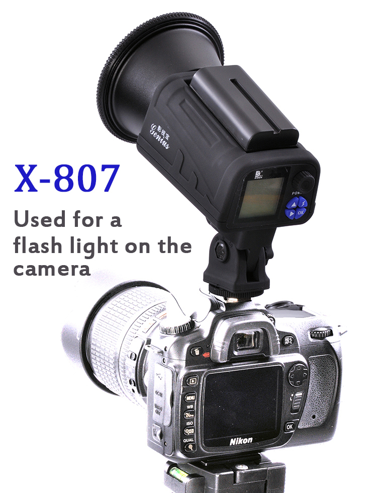 Dison X 807 Outdoor Mini Led Flash Strobe Light With Camera