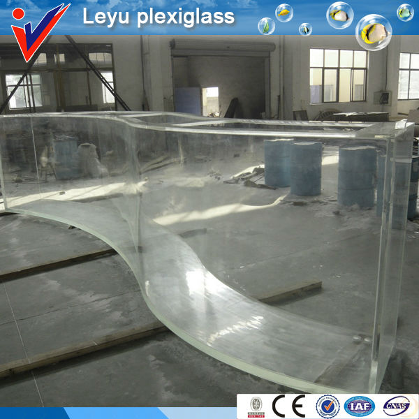 Clear square large acrylic aquarium lucite acrylic fish tank