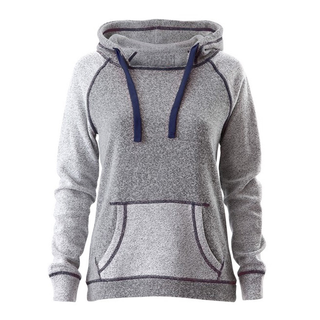 Wholesale Cheap Fashion Women's Reversed Sleeve & Pocket Hood Sweatshirt