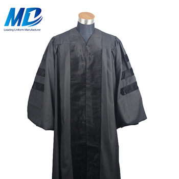 Customized Doctoral Phd Graduation Gowns, Graduation Matte Doctoral Gown Set