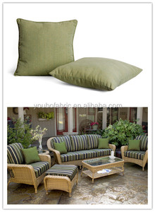 Hot sale rattan chair stripe printing cushions ,yarn dyed olive green sofa decor pillow