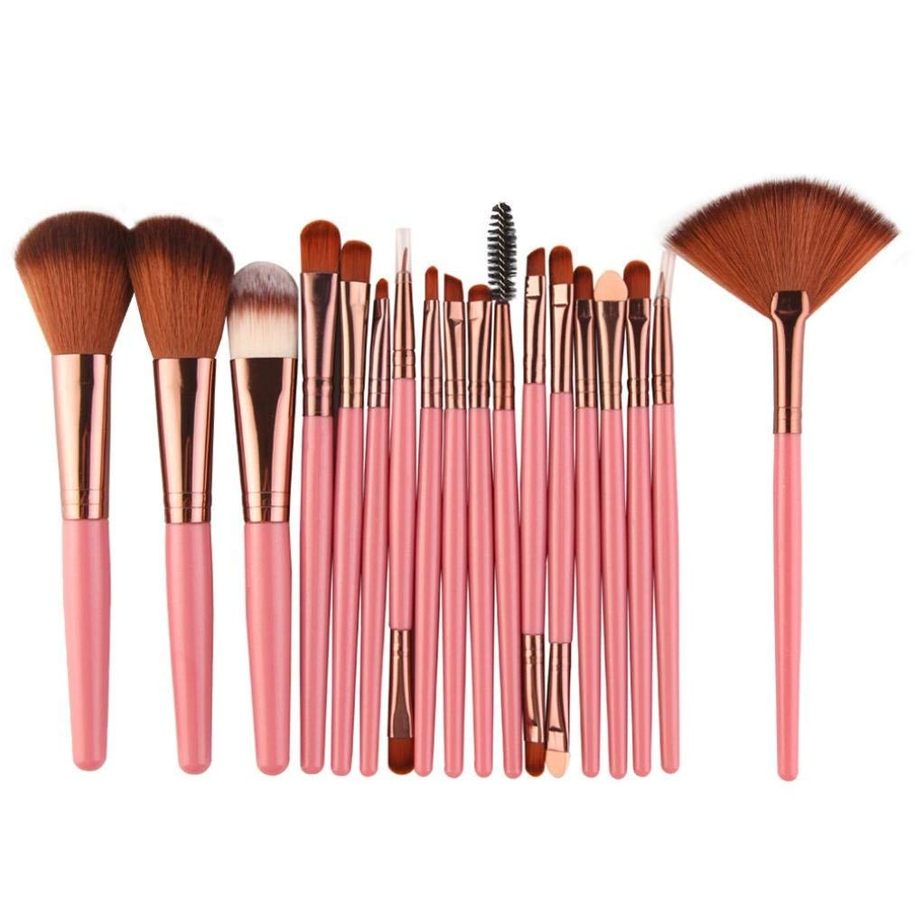 Makeup Brush Set,Leedford 18 PCS/Set Makeup Brush Professional Face Eye Shadow Eyeliner Foundation Blush Lip Makeup Brushes Powder Liquid Cream Cosmetics Blending Brush Tool