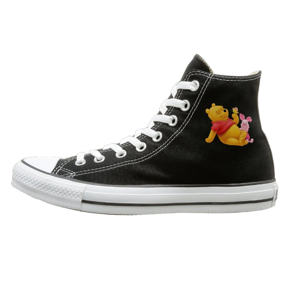 Get Quotations · Winnie Pooh Sneaker Canvas Flat Black ea0e5fb1c