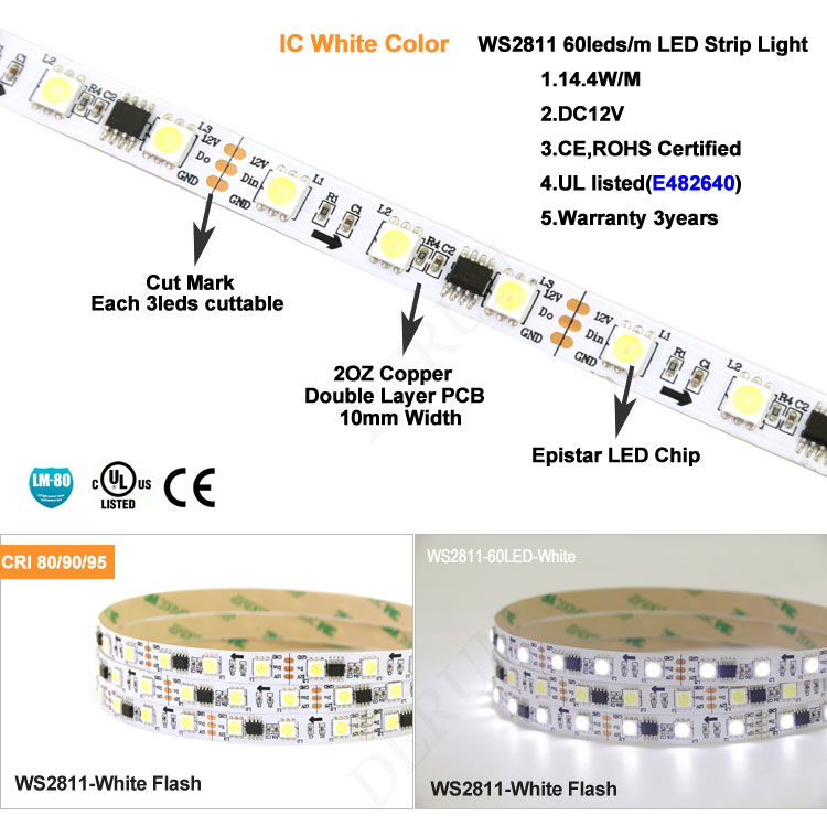 Animated Running Dmx Programmable Digital Ws2811 Led Strip