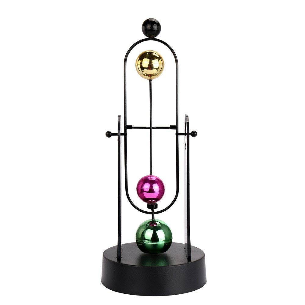 Home Revolving Balance Ball Perpetual Motion Physics Science Teaching Aids Educational Toy Home Desk Art Craft Decor School Supplies