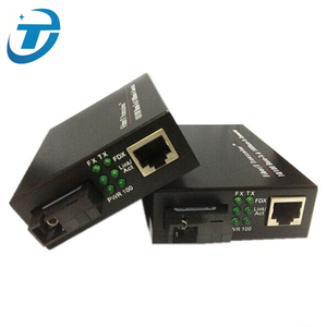 FTTH/networking video surveillance single mode 10 100 1000M bidi analog to ip converter