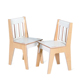 Wooden Kids Party Chairs Poplar Plywood Flat Pack Chair Kids Furniture Wholesale