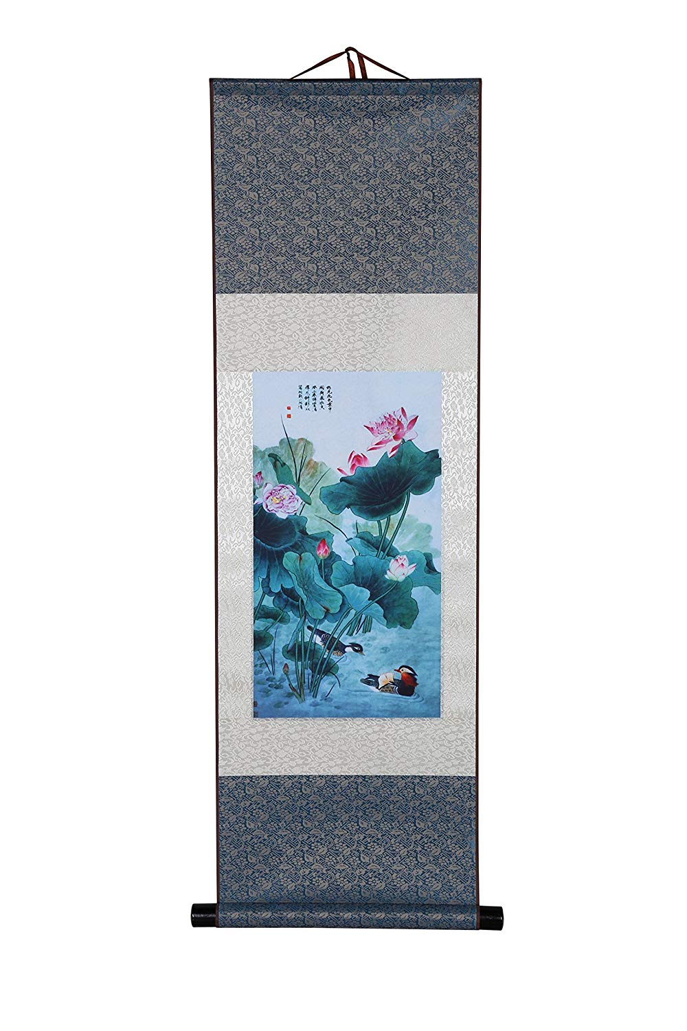 Buy Thostore Chinese Famous Poem With Lotus Flowers And Fish Red And