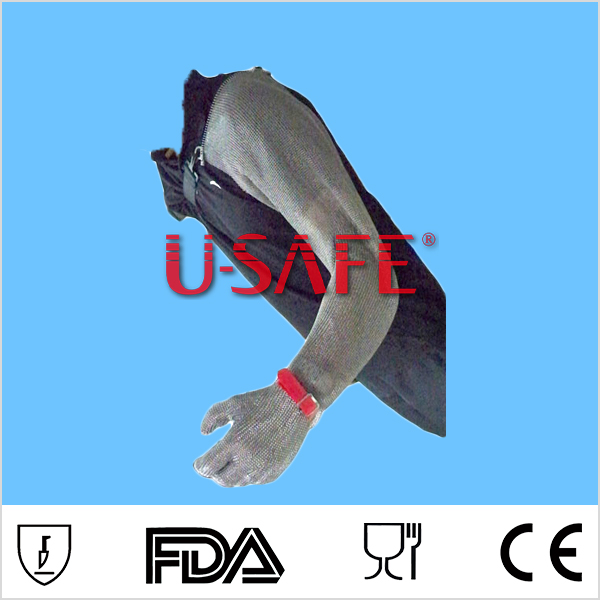 U-SAFE chain mail metal mesh cut proof arm and hand sleeves
