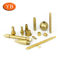 5 Axles Precision Brass Cnc Part Turning Works Cnc Customized Brass Turned Components