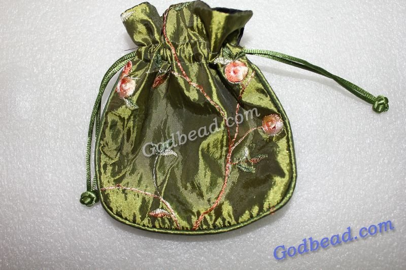 12 wholesale Chinese silk gift/ jewelry bags /silk pouch silk stain bags