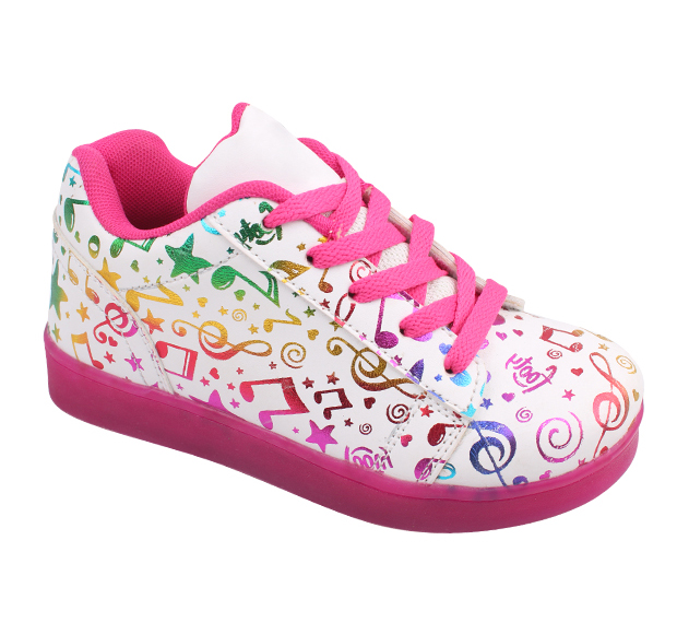 Musical note LED light kids shoes