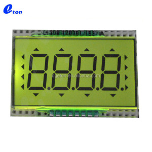 4 digit Custom positive pin connection square LCD display
