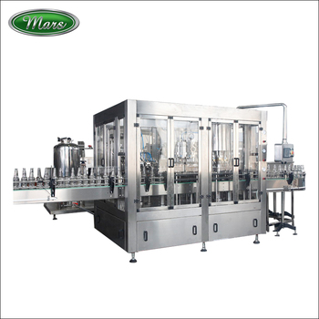 Glass Bottle Beer Washing Filling Crown Capping Machine