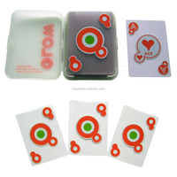 Customized transparent playing cards clear plastic poker game cards