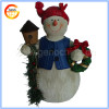 Lovely resin snowman statue christmas toy