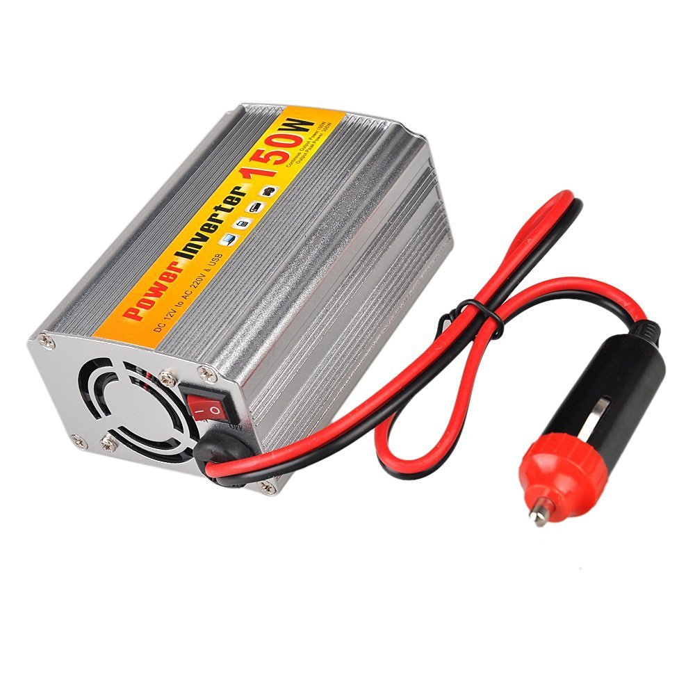 Inverters - SODIAL(R)150W DC 12V to AC 220V Car Power Inverter with USB connector voltage transformers Inverters car automobile motor vehicle