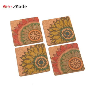 Custom silicone cup rubber mat,blank wooden cork drink coaster with logo cheap pvc paper beer coaster