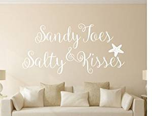 Buy Generic Sandy Toes Salty Kisses Wall Decals Quotes ...
