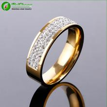 Fashion jewelry 2018 <span class=keywords><strong>emas</strong></span> disepuh perhiasan <span class=keywords><strong>cincin</strong></span> 18 K dengan kristal