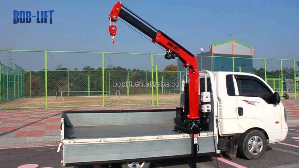 China Small Mobile Electric Motor Pickup Hydraulic Truck Crane ...