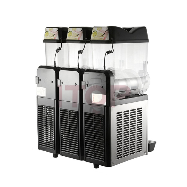 SM12*3(SS body panel) Slush machine granita machine commercial Slush Making Machine Smoothies