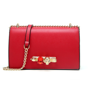 Faux Leather Fashionable Design Women Handbags Small Purse New Buckle Crystal Shoulder Bag China Wholesale