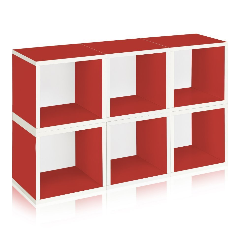 ... Plastic Bins On Rails · Way Basics Eco Stackable Modular Storage Cubes