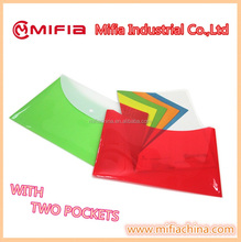 plastic a4 carrying file document envelope folder with 2 pockets popular very in Dubai