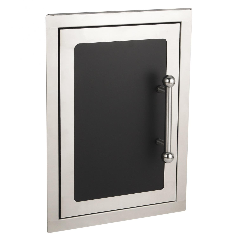 Fire Magic Echelon Black Diamond 14-inch Left-hinged Single Access Door - Vertical - 53920h-sl