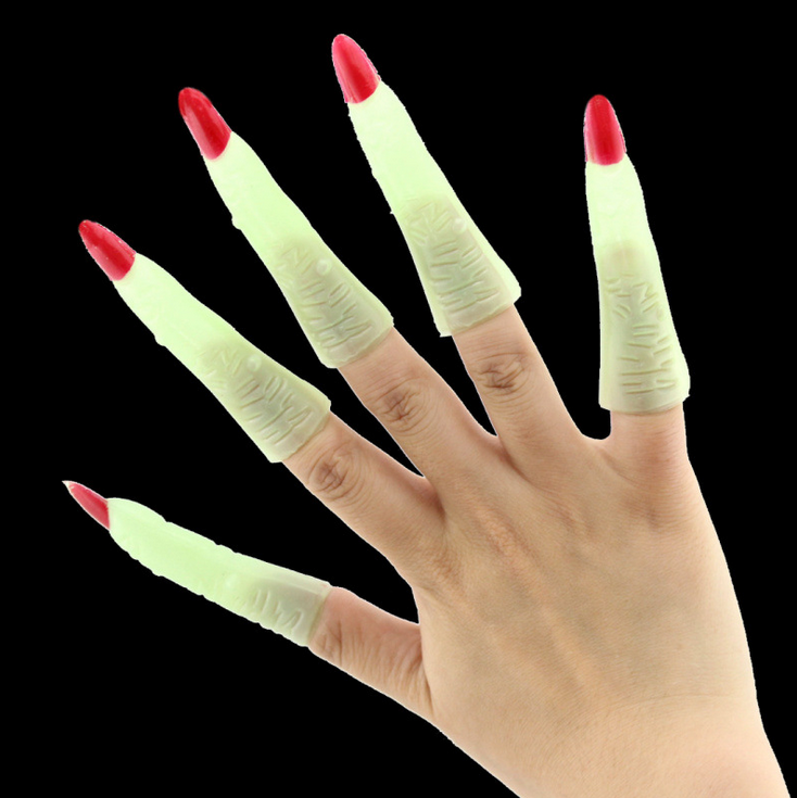 Halloween Costume Party Supplies Zombie Witch Props Fake Nails Set ...
