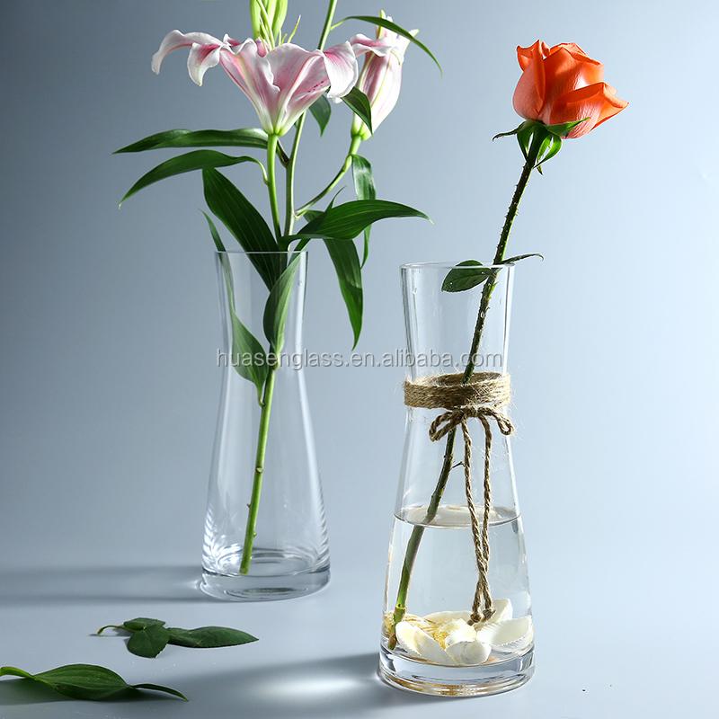 florero de cristal con cuerda de camo hecho a mano artes jarrones de flores