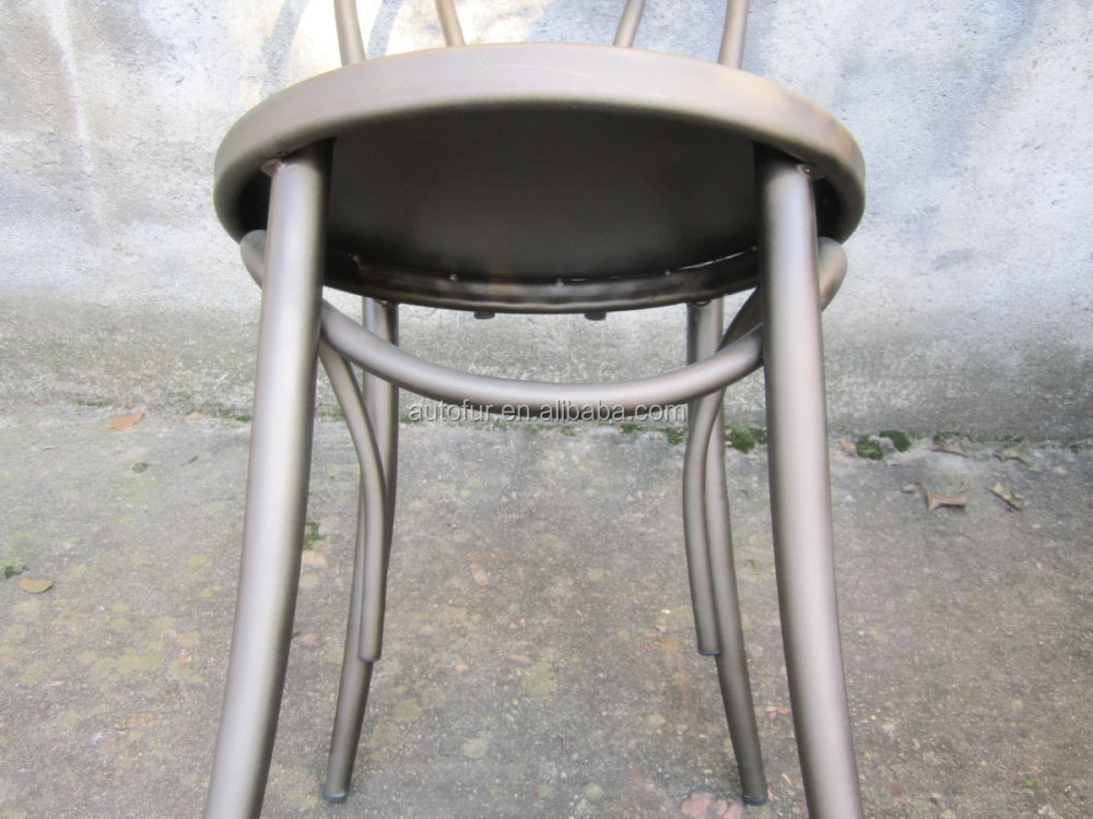 Replica Antique Gunmetal Thonet Chair In Metal Furniture