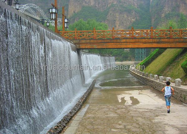 Outdoor Decorative Artificial Buddha Wall Waterfall Fountain